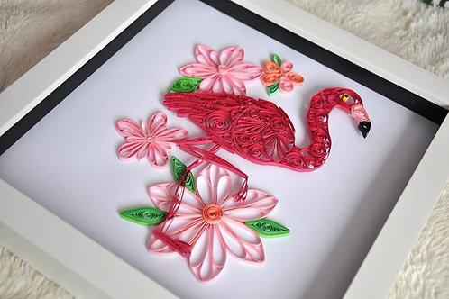 Framed Design - Pretty in Pink Flamingo