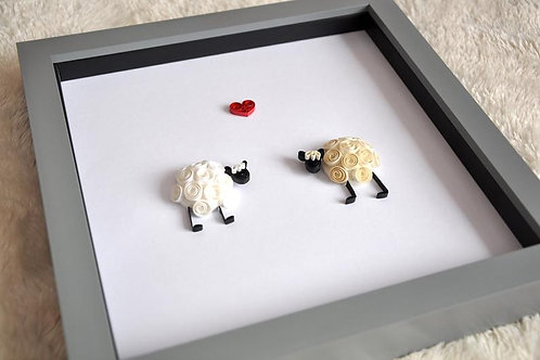 "Framed Design - ""I Love Ewe"""