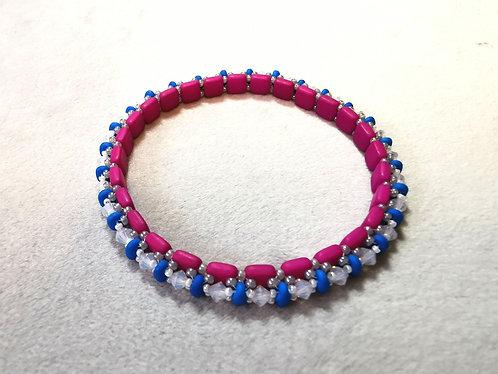 Festival of lights (Matte pink, matte blue and opal white)