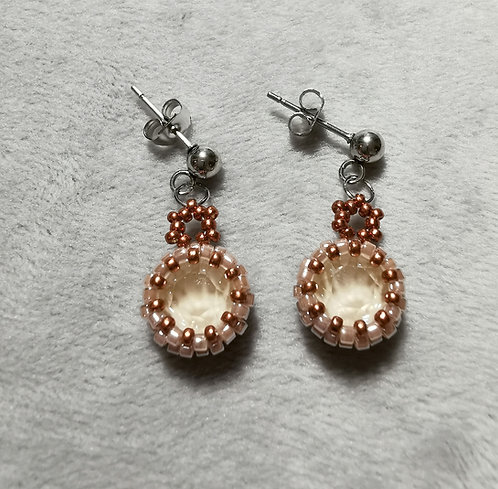 Simplicity earrings (Metallic topaz and champagne)