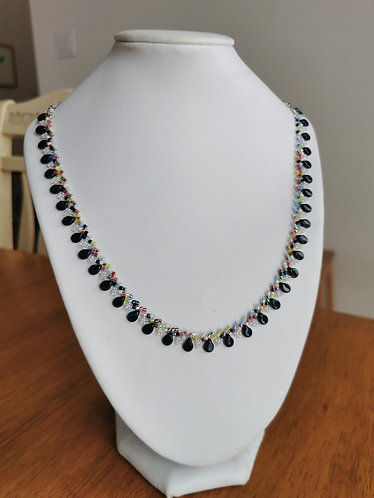 Delicate St-Petersburg necklace (picasso navy and multi-colour)