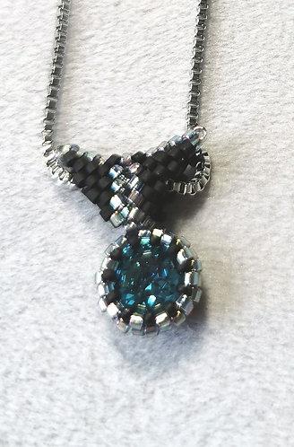 Mini pendant (Dark aqua, matte black)