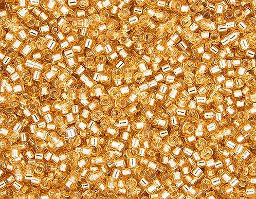 Miyuki Delica size 11/0 Gold silver-lined