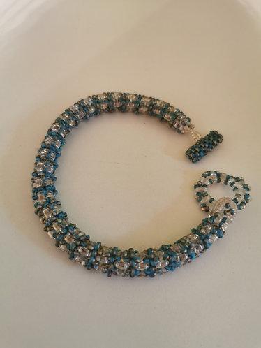 Daydreamer rope bracelet (crystal ab and matte blue ab)