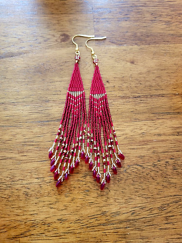 Long fringe (red and gold)