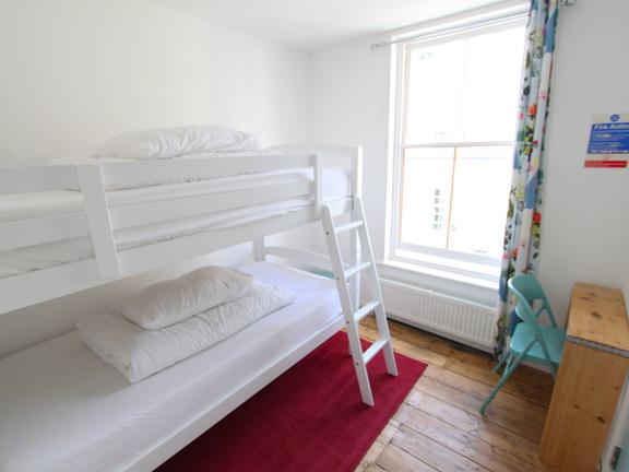 Twin dorm room