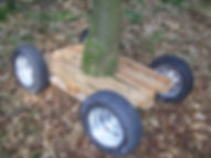Martine de Jong, art, kunst, boomwagentje, tree cart, trust me I'm already here