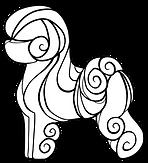Yamio starlines Swirly Logo WHITE inside