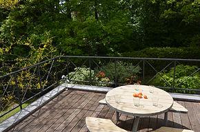 Du balcon vue sur la forêt