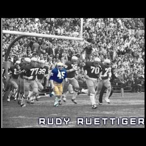 Rudy runs onto the Field 8x10 photo
