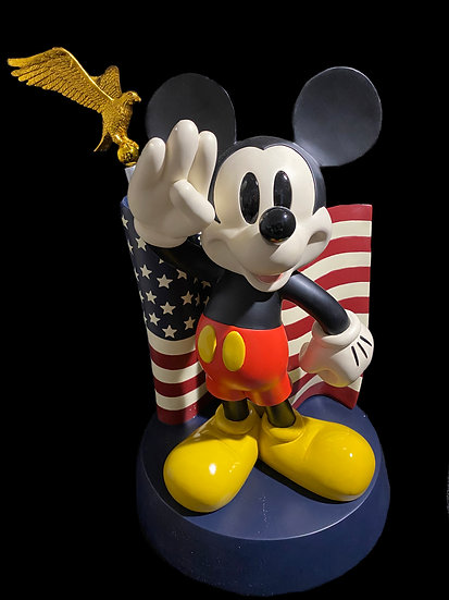 Salute Mickey with Flag