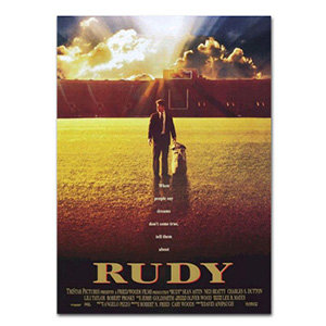 RUDY MOVIE POSTER - Full Size