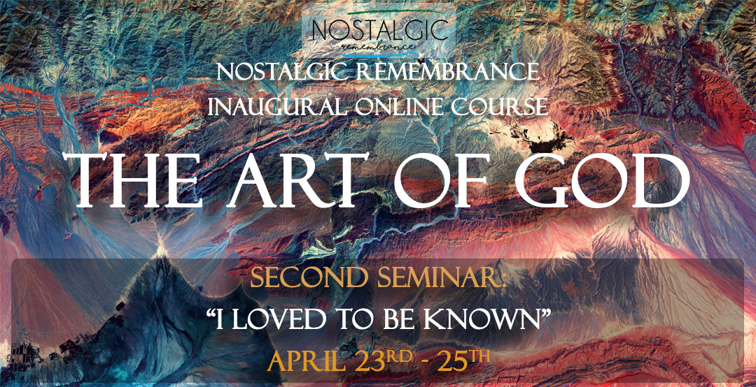 """Art of God: """"I loved to be known"""""""