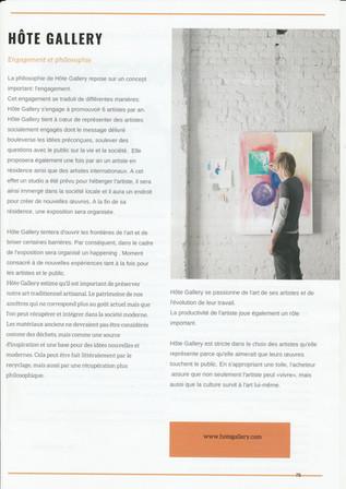 Article paru dans le magazine Little Mimi