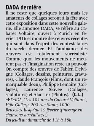 Article posté dans la Libre Belgique