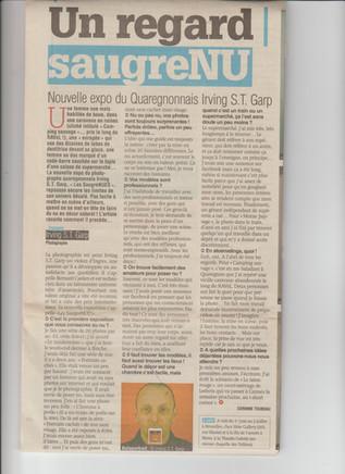Article paru dans Sudpresse mai 2017