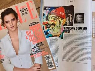 Dans le Elle Belgique de avril 2017