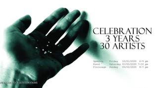 """Celebration, 3 ans, 30 Artistes"""