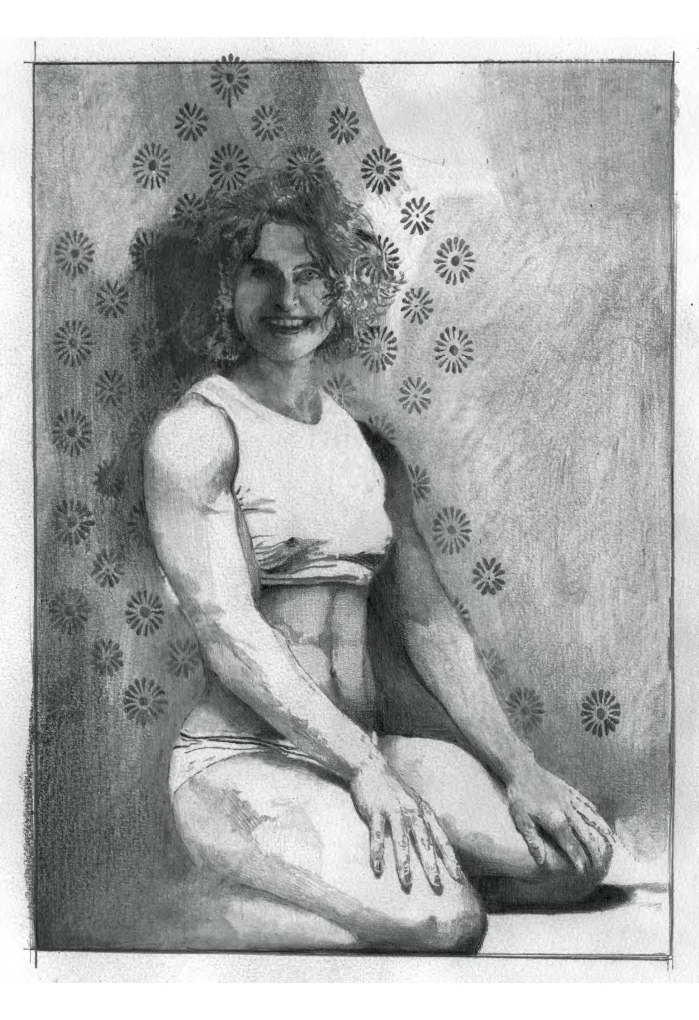 Body Talk- crayon graphite