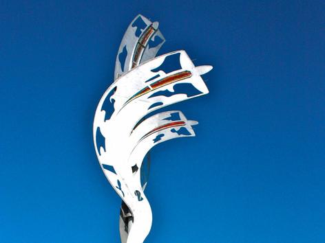 Charley Fox Memorial Overpass Sculpture
