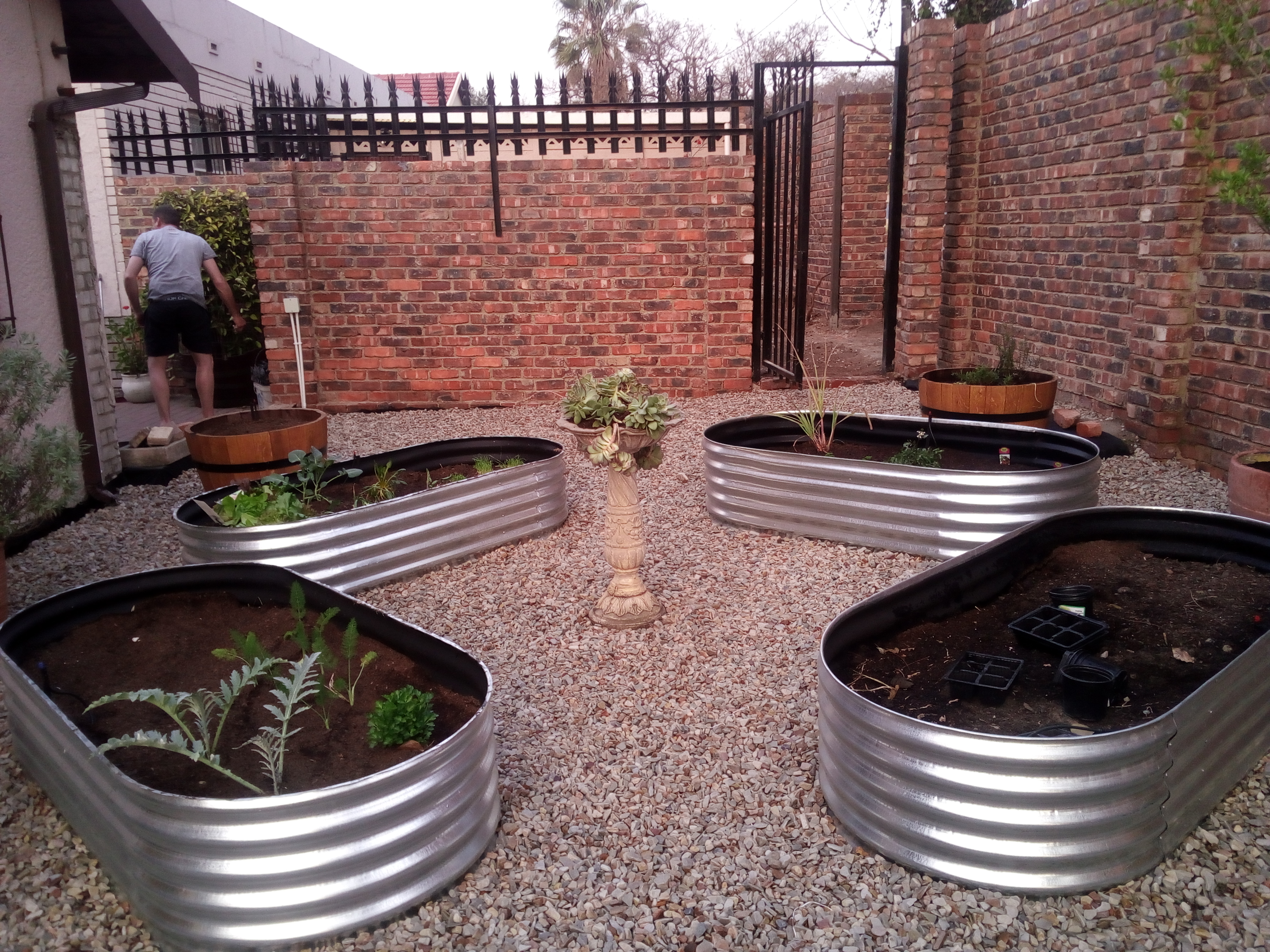 Landscaping With Zinc Planters