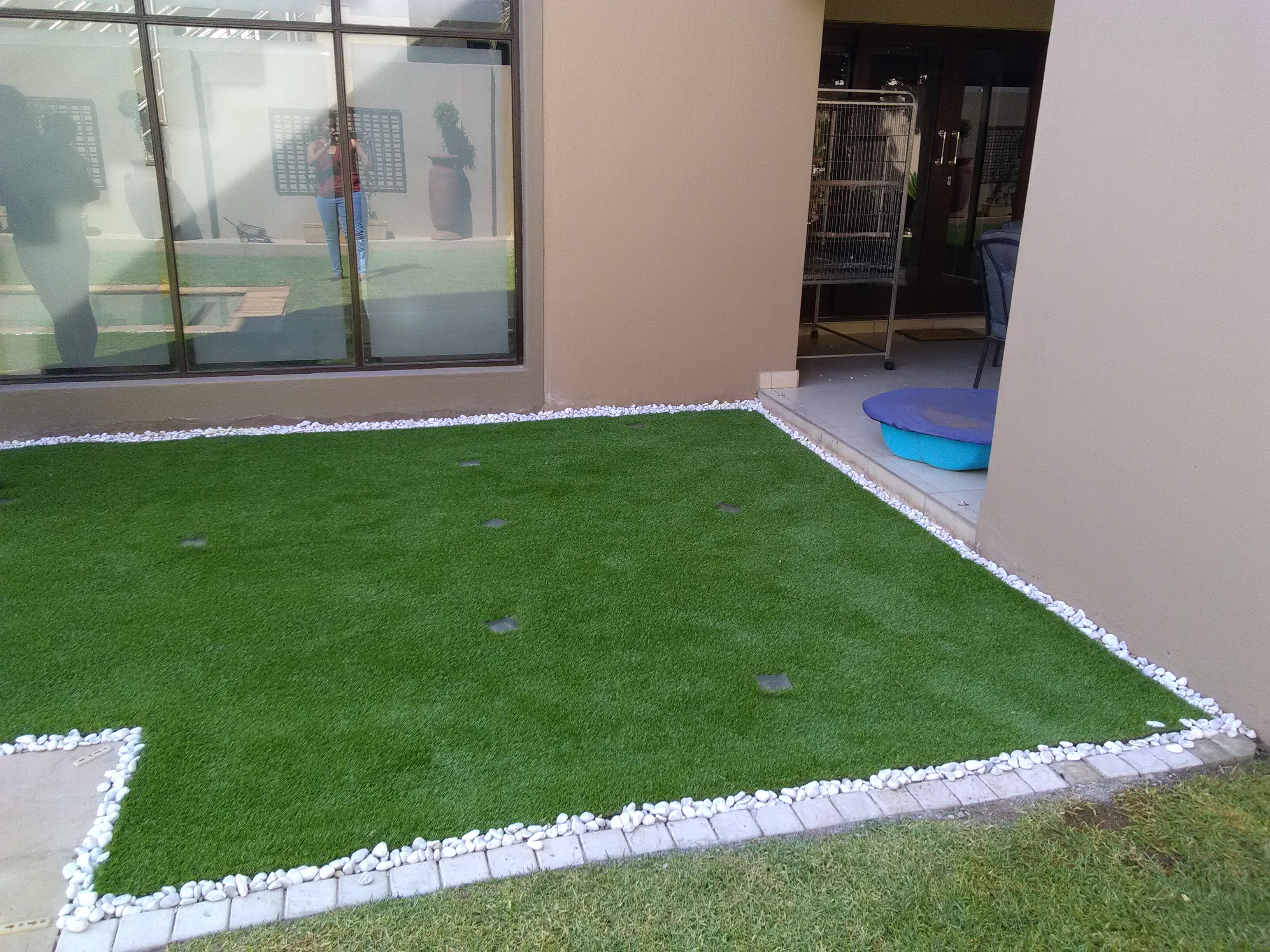 Patio Area Upgrade Artificial Turf