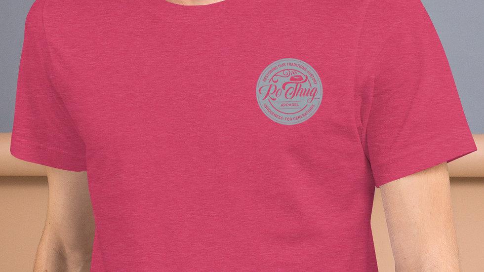 RoThug Short-Sleeve Unisex T-Shirt-Grey Logo
