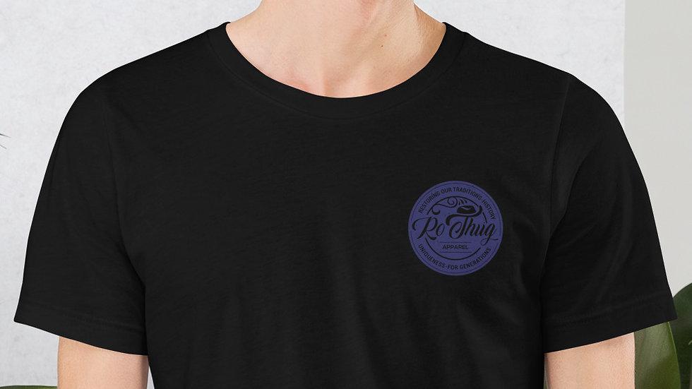 RoThug Short-Sleeve Unisex T-Shirt-Navy Logo