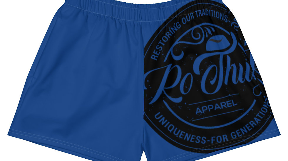 RoThug Women's Athletic Short Shorts-Royal Blue