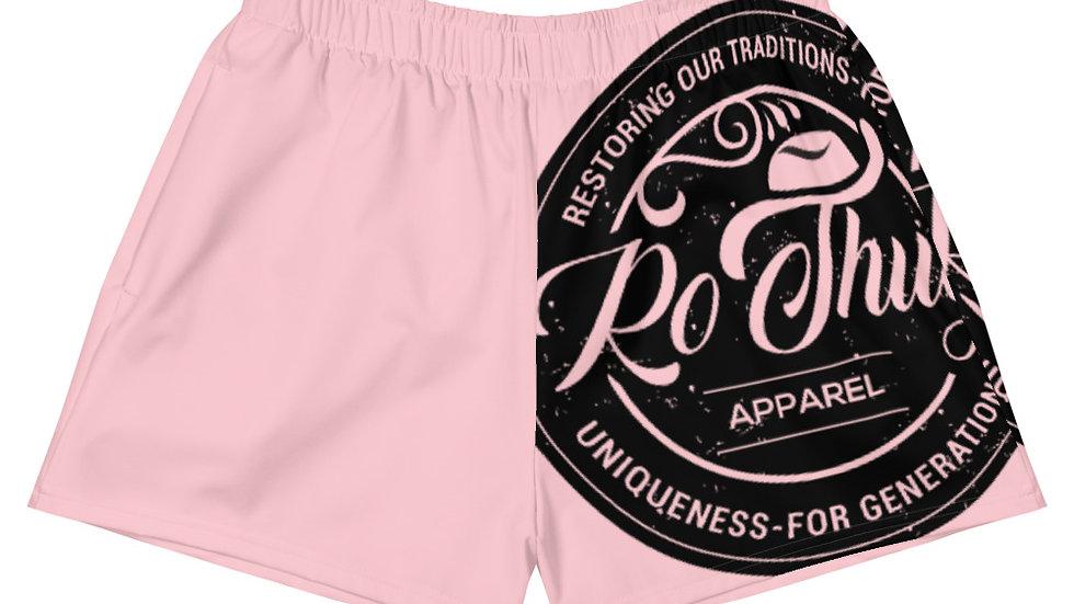 RoThug Women's Athletic Short Shorts-Pink