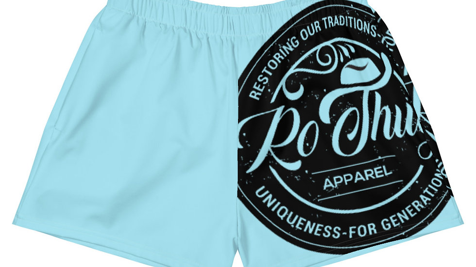 RoThug Women's Athletic Short Shorts-Powder Blue copy