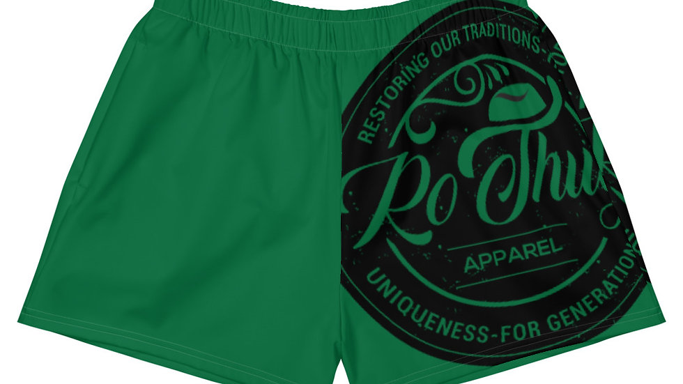 RoThug Women's Athletic Short Shorts-Green