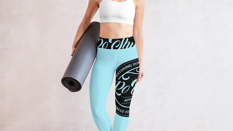RoThug Yoga Leggings-Powder Blue