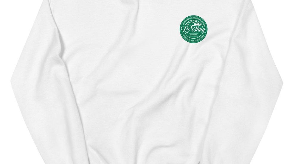 RoThug Unisex Sweatshirt-Green Logo