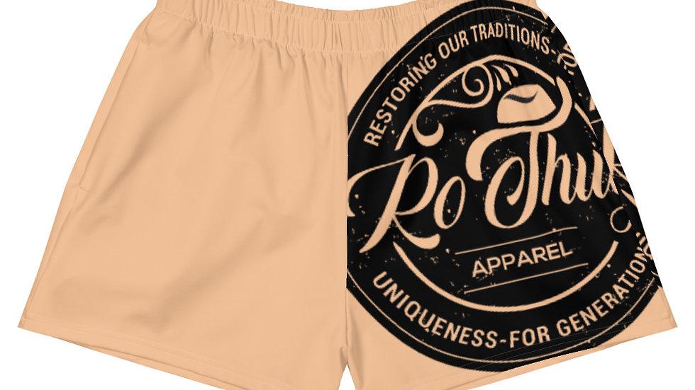 RoThug Women's Athletic Short Shorts-Nude