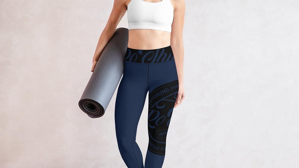 RoThug Yoga Leggings-Navy Blue