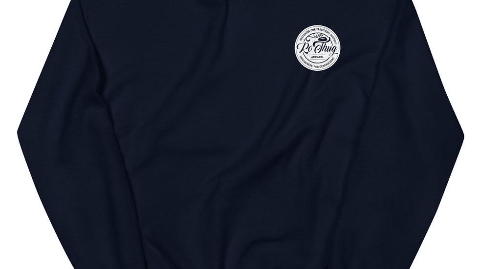 RoThug Unisex Sweatshirt-White Logo