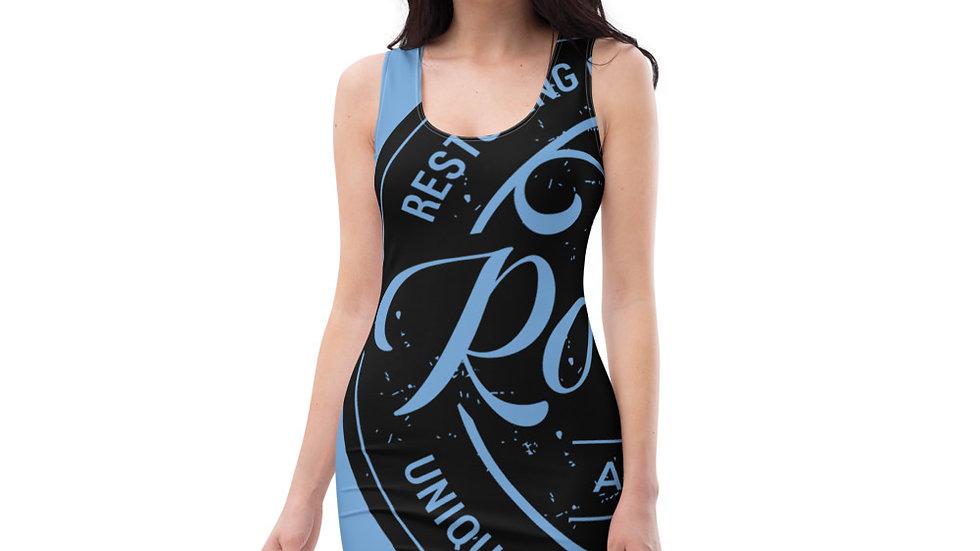 RoThug Sublimation Cut & Sew Dress-Light Blue