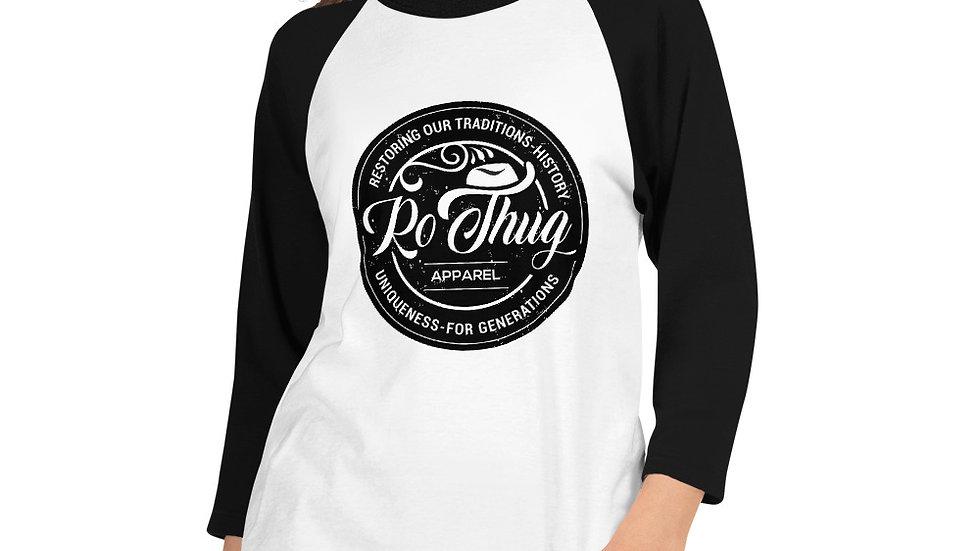 RoThug Women's 3/4 sleeve raglan shirt