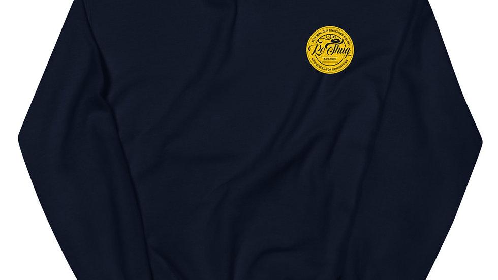 RoThug Unisex Sweatshirt-Gold Logo