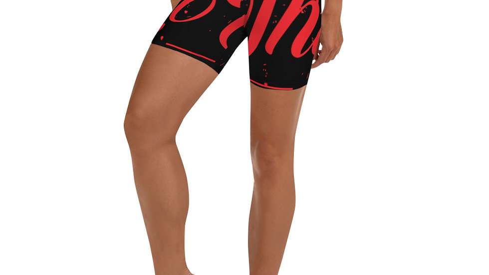 RoThug Yoga Shorts-Red