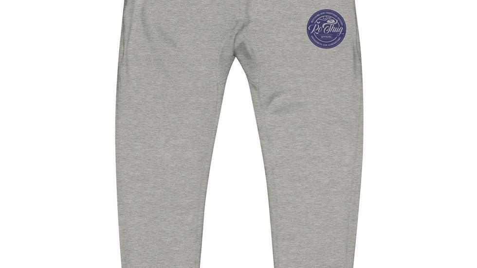 RoThug Unisex fleece sweatpants-Navy Logo
