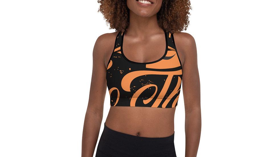 RoThug Padded Sports Bra-Orange