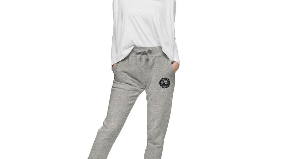 RoThug Women's fleece sweatpants-Black Logo