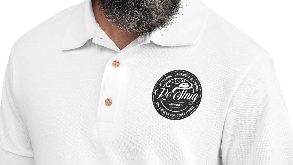 RoThug Embroidered Polo Shirt-Black Logo