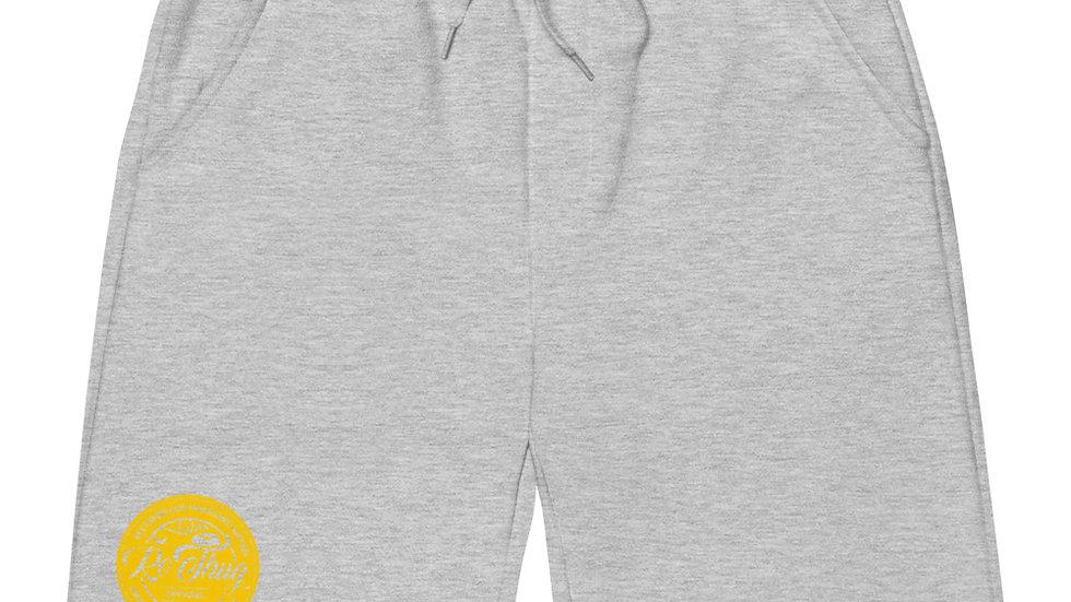 RoThug Men's fleece shorts-Yellow Logo