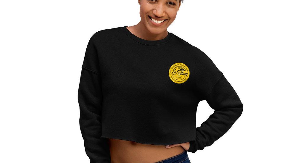 RoThug Crop Sweatshirt-Black Logo