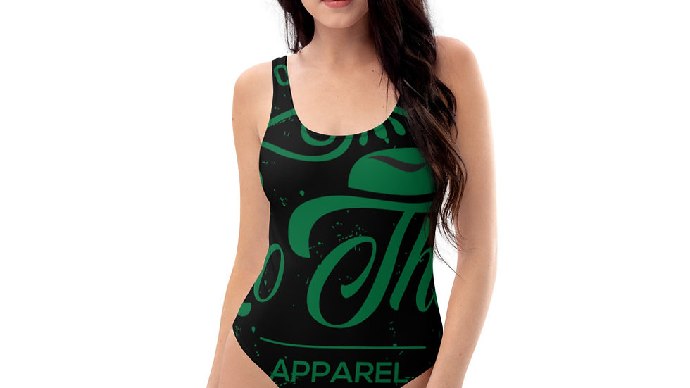 RoThug One-Piece Swimsuit-Green