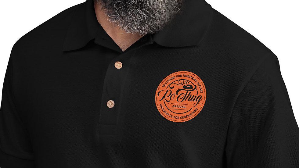 RoThug Embroidered Polo Shirt-Orange