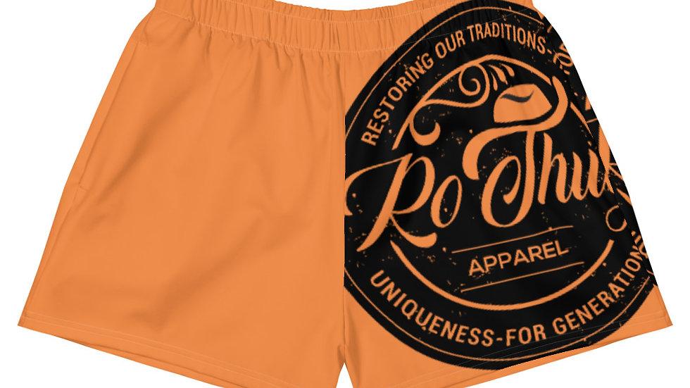RoThug Women's Athletic Short Shorts-Orange